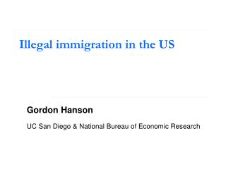 Illegal immigration in the US