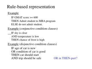 Rule-based representation
