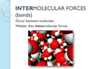INTER MOLECULAR FORCES (bonds)