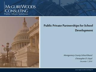 Public Private Partnerships for School Development