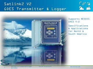 Satlink2 V2 GOES Transmitter & Logger