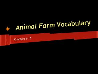 Animal Farm  Vocabulary