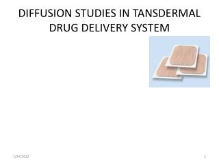 Transdermal Drug Delivery Systems
