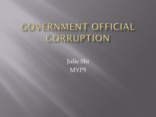 Government official corruption