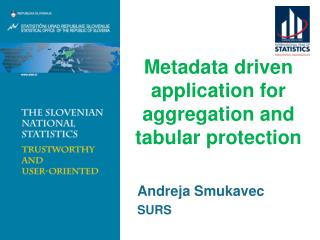 Metadata driven application for aggregation and tabular protection