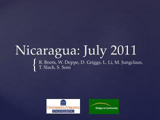 Nicaragua: July 2011