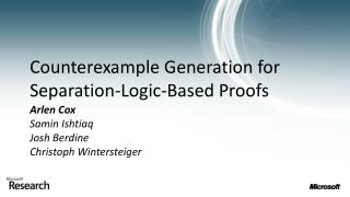 Counterexample Generation for Separation-Logic-Based Proofs