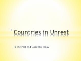 Countries in Unrest