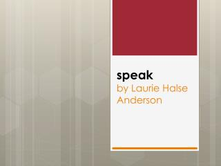s peak by Laurie  Halse  Anderson