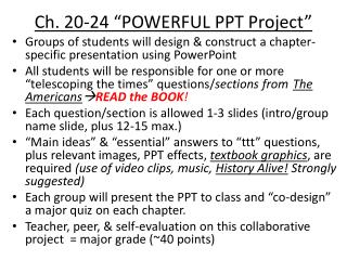 "Ch. 20-24 ""POWERFUL PPT Project"""