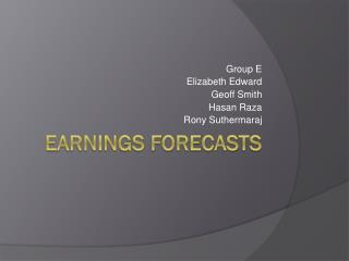 Earnings Forecasts