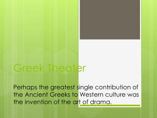 Two Important Greek Playwrights