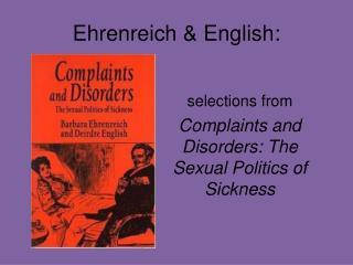 Ehrenreich &  E nglish: