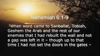 Nehemiah 6:1-9