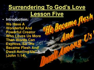 Surrendering To God s Love Lesson Five
