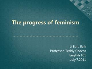 The progress of feminism