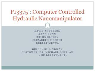 P13375 : Computer Controlled Hydraulic  Nanomanipulator