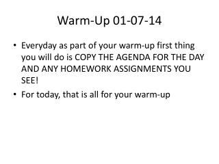 Warm-Up 01-07-14