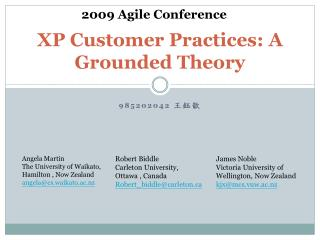 XP Customer Practices: A Grounded Theory