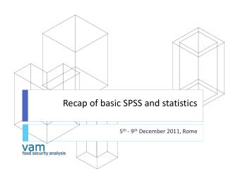 Recap of basic SPSS and statistics
