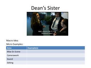 Dean's Sister