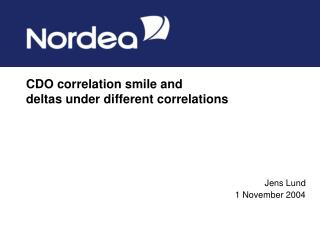 CDO correlation smile and deltas under different correlations