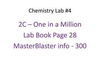 Chemistry Lab #4