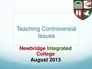 Teaching Controversial Issues
