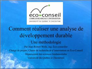 Comment r aliser une analyse de d veloppement durable