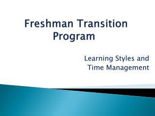 Freshman  Transition  Program