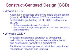 Construct-Centered Design (CCD)