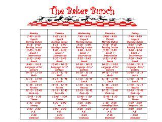 The Baker Bunch