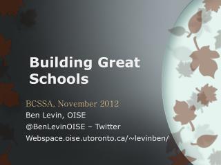 Building  Great  Schools