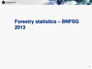 Forestry statistics  – BNFSG 2013