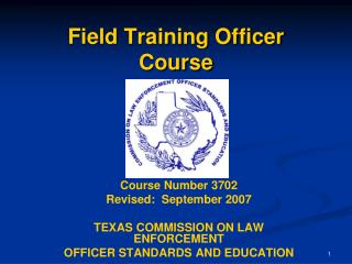 Field Training Officer Course