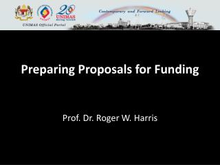 Preparing Proposals for  Funding