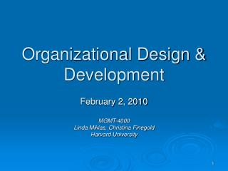 Organizational Design  Development