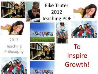 Eike Truter 2012 Teaching POE