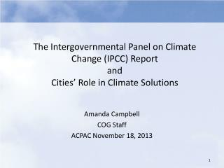 Amanda Campbell COG Staff ACPAC November 18 ,  2013