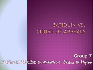 BATIQUIN  vS. COURT OF APPEALS