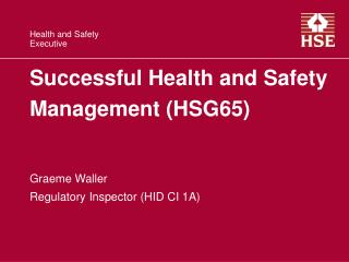 Successful Health and Safety  Management HSG65