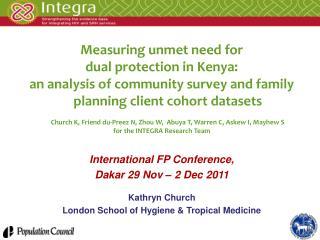 Measuring unmet need for  dual protection in Kenya: