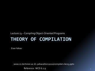 Theory of Compilation