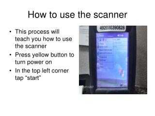 How to use the scanner
