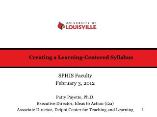 Creating a Learning-Centered Syllabus