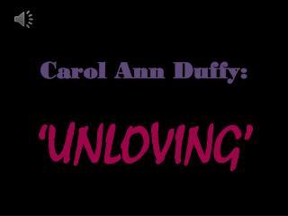 Carol Ann Duffy:
