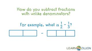 How do you subtract fractions  with unlike denominators?