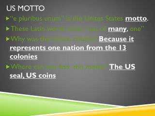 US Motto