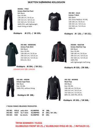 392401 - TYKO Unisex Shell  Set  Pant 060 Black Size : XS-XXL 128-140 cm / 8-10 yrs