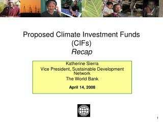 Proposed Climate Investment Funds (CIFs) Recap